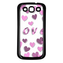 Love Valentine S Day 3d Fabric Samsung Galaxy S3 Back Case (Black)
