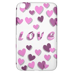 Love Valentine S Day 3d Fabric Samsung Galaxy Tab 3 (8 ) T3100 Hardshell Case