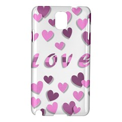 Love Valentine S Day 3d Fabric Samsung Galaxy Note 3 N9005 Hardshell Case