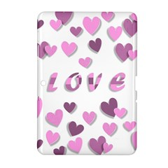 Love Valentine S Day 3d Fabric Samsung Galaxy Tab 2 (10.1 ) P5100 Hardshell Case