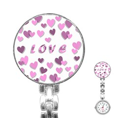 Love Valentine S Day 3d Fabric Stainless Steel Nurses Watch