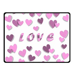Love Valentine S Day 3d Fabric Double Sided Fleece Blanket (Small)