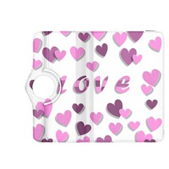 Love Valentine S Day 3d Fabric Kindle Fire HDX 8.9  Flip 360 Case