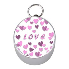 Love Valentine S Day 3d Fabric Mini Silver Compasses