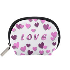 Love Valentine S Day 3d Fabric Accessory Pouches (Small)
