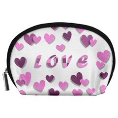 Love Valentine S Day 3d Fabric Accessory Pouches (large)