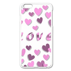 Love Valentine S Day 3d Fabric Apple iPhone 6 Plus/6S Plus Enamel White Case