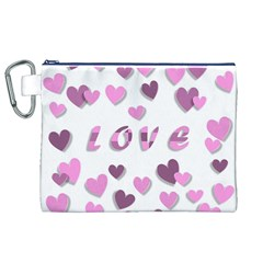Love Valentine S Day 3d Fabric Canvas Cosmetic Bag (XL)