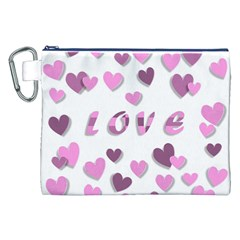 Love Valentine S Day 3d Fabric Canvas Cosmetic Bag (XXL)