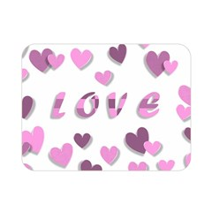 Love Valentine S Day 3d Fabric Double Sided Flano Blanket (Mini)