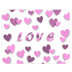 Love Valentine S Day 3d Fabric Double Sided Flano Blanket (Medium)
