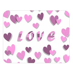 Love Valentine S Day 3d Fabric Double Sided Flano Blanket (Large)