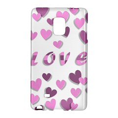 Love Valentine S Day 3d Fabric Galaxy Note Edge
