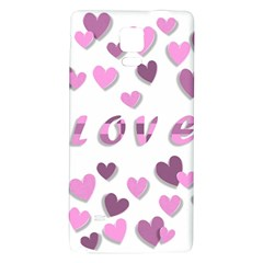 Love Valentine S Day 3d Fabric Galaxy Note 4 Back Case