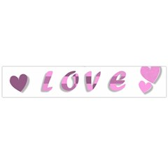Love Valentine S Day 3d Fabric Flano Scarf (Large)