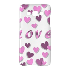 Love Valentine S Day 3d Fabric Samsung Galaxy A5 Hardshell Case