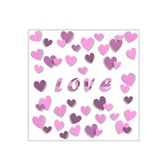 Love Valentine S Day 3d Fabric Satin Bandana Scarf