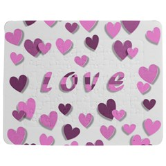 Love Valentine S Day 3d Fabric Jigsaw Puzzle Photo Stand (Rectangular)