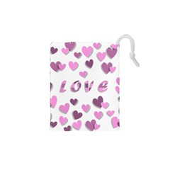 Love Valentine S Day 3d Fabric Drawstring Pouches (XS)