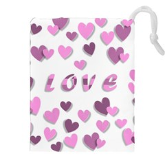 Love Valentine S Day 3d Fabric Drawstring Pouches (XXL)