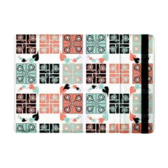 Mint Black Coral Heart Paisley Apple iPad Mini Flip Case