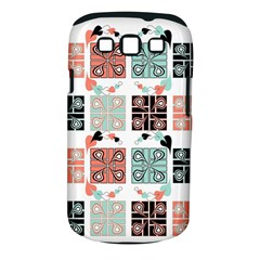 Mint Black Coral Heart Paisley Samsung Galaxy S Iii Classic Hardshell Case (pc+silicone)