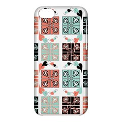 Mint Black Coral Heart Paisley Apple iPhone 5C Hardshell Case