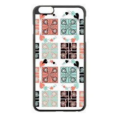 Mint Black Coral Heart Paisley Apple Iphone 6 Plus/6s Plus Black Enamel Case