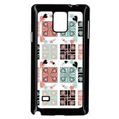 Mint Black Coral Heart Paisley Samsung Galaxy Note 4 Case (black)