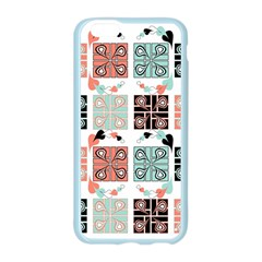 Mint Black Coral Heart Paisley Apple Seamless iPhone 6/6S Case (Color)