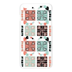 Mint Black Coral Heart Paisley Apple Seamless iPhone 6 Plus/6S Plus Case (Transparent)