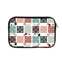 Mint Black Coral Heart Paisley Apple Macbook Pro 13  Zipper Case