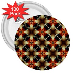 Kaleidoscope Image Background 3  Buttons (100 pack)