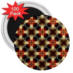 Kaleidoscope Image Background 3  Magnets (100 pack)
