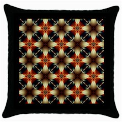 Kaleidoscope Image Background Throw Pillow Case (Black)
