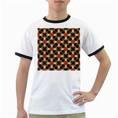 Kaleidoscope Image Background Ringer T-Shirts