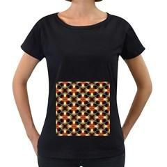 Kaleidoscope Image Background Women s Loose-Fit T-Shirt (Black)