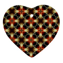 Kaleidoscope Image Background Heart Ornament (Two Sides)