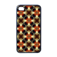 Kaleidoscope Image Background Apple iPhone 4 Case (Black)