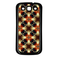 Kaleidoscope Image Background Samsung Galaxy S3 Back Case (Black)