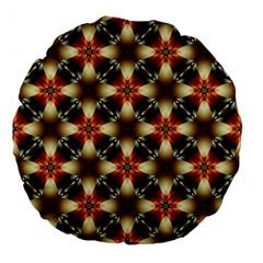 Kaleidoscope Image Background Large 18  Premium Flano Round Cushions