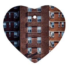 New York Building Windows Manhattan Ornament (Heart)