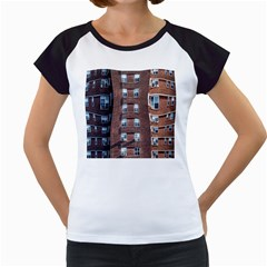 New York Building Windows Manhattan Women s Cap Sleeve T