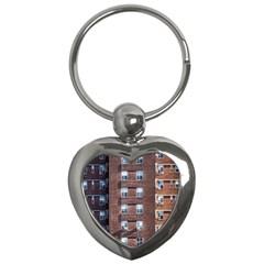 New York Building Windows Manhattan Key Chains (Heart)