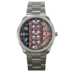 New York Building Windows Manhattan Sport Metal Watch