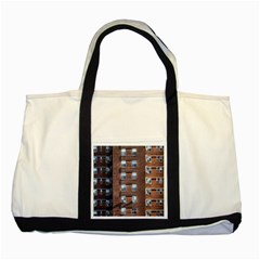 New York Building Windows Manhattan Two Tone Tote Bag