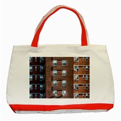 New York Building Windows Manhattan Classic Tote Bag (Red)