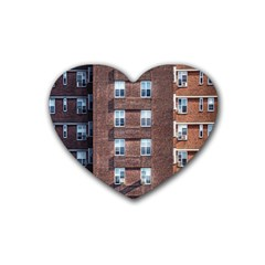 New York Building Windows Manhattan Heart Coaster (4 pack)