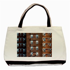 New York Building Windows Manhattan Basic Tote Bag (Two Sides)