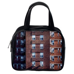 New York Building Windows Manhattan Classic Handbags (One Side)